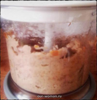Рецепт овощного паштета из красной фасоли